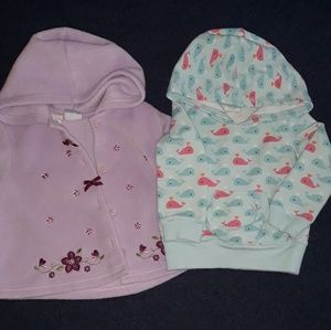 Other - 2 hooded sweatshirts sized 18 months